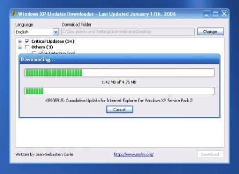 Windows XP Update Downloder